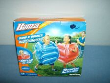 Banzai Bump N' Bounce Inflatable Kids Body Bumpers - Set of 2 - Red & Blue Match