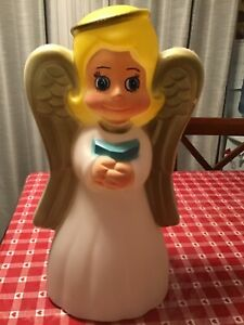 """For 1Grand Venture//union Praying Blonde Girl Angel Plastic Blow Mold Lighted 18/"""""""