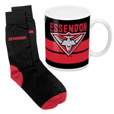 Essendon Bombers AFL Coffee Mug & Socks GIFT PACK Christmas Fathers Day