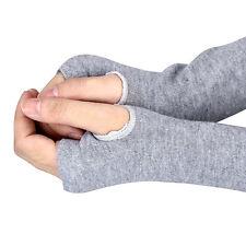 New Women Winter Knitted Wrist Arm Hand Warmer Long Mitten Fingerless Gloves