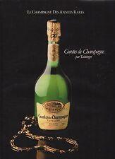 Publicité Advertising 1981 CHAMPAGNE comtes de champagne par taittinger
