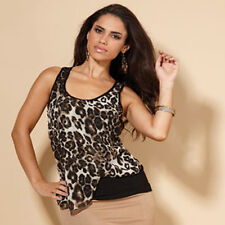 Thomas Gee Size 10 Leopard Print Blouse Top