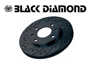 Black Diamond DISCHI FORATI BAFFATI ANTERIORI ALFA ROMEO 156 GTA IMP. BREMBO