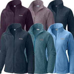 """New Womens Columbia """"Benton Springs"""" Full Zip Fleece Jacket Sweaters"""