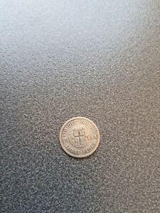 1944  Silver - Three Pence - King George VI.  VERY RARE