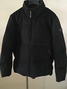 Tumi Wool Down Blocked Puffer Men's Jacket Black Size XL $550+