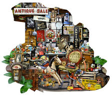 Jigsaw puzzle Americana Antiques for Sale freeform 700 piece NEW Made in the USA