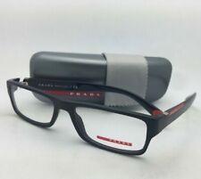 New PRADA Eyeglasses VPS 03C 1AB-1O1 54-17 140 Rectangular Black and Red Frames