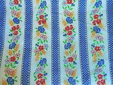 Vintage 1970's Ribbon & Floral Strip Fabric