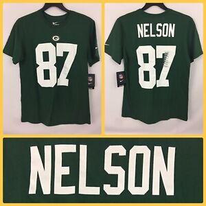 NWT Men's JORDY NELSON #87 Green Bay Packers Jersey-Style Tee-Shirt - Medium