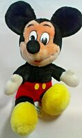 "Mickey Mouse Stuffed Plush Doll Disney World DisneyLand 12"" Vintage Toy"