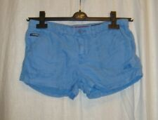 SUPERDRY RED LABEL blue cotton festival party hotpants sexy shorts sz XS great c