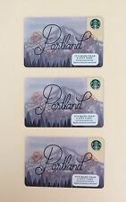 2017 Starbucks Portland Card - Lot of 3