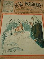 Docteur Lopinion Au Lit..à Perpetuite ! Couverture Gerbault Print Cover 1910