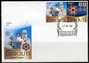 DJIBOUTI 2020 VIRUS CHINESE ANTI PANDEMIC SET FIRST DAY COVER