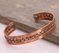 Copper Bracelet Tibetan Bio Pain Relief Pattern Magnetic Unisex Bangle