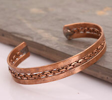 Copper Bracelet Tibetan Bio Pain Relief Pattern Magnetic Unisex Bangle