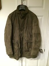 Ralph Lauren PURPLE LABEL Down Filled Suede Leather Puffy Jacket Size L