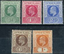 Lightly Hinged Edward VII (1902-1910) Caymanian Stamps