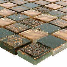 Glasmosaik Natursteinfliesen Maya Brown | Fliesenbordüre Mosaikfliesen Küche