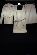 Vintage IDA LOUISE CHICAGO Lot Of 5 Cream Suede Items, Womens Size S-B82
