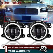 Pair 4In 30W Led Fog Lights DRL White Halo Ring Angel Eye For 05-08 Dodge Magnum