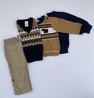 4-Piece Gymboree Sz 12-18 Months Baby Boy Sweater Vest & Pull On Drawstring Pant