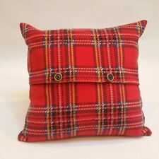 Cushion Cover Tartan Check Fleece 16x16 Lilleybee Textiles