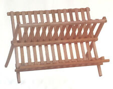 New Timber Dish Rack Wooden Holder Drying Drainer Storage Organizer Wooden Plate