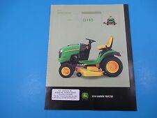 Original John Deere Sales Brochure Model G110 Garden Tractor V-Twin  M1351