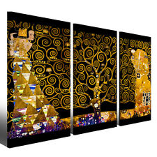 Quadro Gustav Klimt l'albero della vita Black Version 130 x 90 Stampa su tela