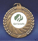 GIRL SCOUTS SCOUTING  MEDAL NEW! AWARD WITH NECK RIBBON