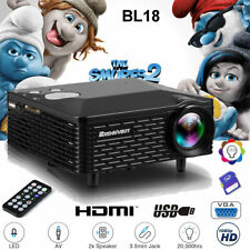 1080p HD Mini Portable LED Projector Home Theater Movie Multimedia HDMI SD USB