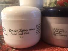 Organic Cream, Romantic Massage Cream, Sensual Herbs & Oils, 4 Oz