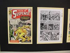 Production Art Jack Kirby pg8 Tales of Suspense #41 matted w cover & page prints