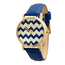 Fashion Women's Watches Chevron Waves Style Quartz Leather Watch Cheap