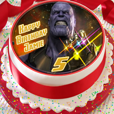 GUARDIANS OF THE GALAXY BIRTHDAY PERSONALISED 7.5 INCH EDIBLE CAKE TOPPER B-004G