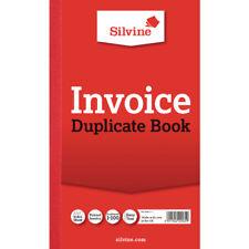 Silvine Duplicate Invoice Book 210x127mm (Pack of 6) 611