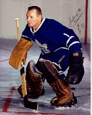 JOHNNY BOWER Signed Autographed NHL TORONTO MAPLE LEAFS Photo