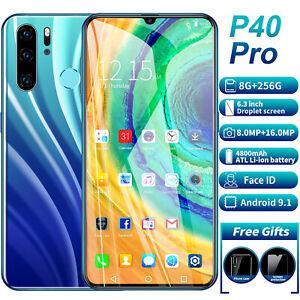 New P40 PRO 8GB+256GB Android 9.1 Smartphone Handy 6.3'' Dual SIM  Face Unlock