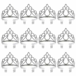 12-Pack Tiara Crown Headband for Kids Princess Dress Up Costume Party, Age 3-6