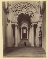 Museo Vaticano Roma Italia Deux 2 Foto Duplex Vintage Albumina c1870