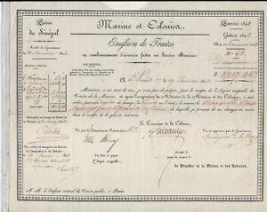 Sénégal, Traite de 500 Francs,exercice 1841  20 janvier 1842, Kolsky 665