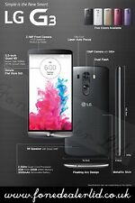 LG G3 D855 Negro Libre / Sin sim 4g LTE Smartphone