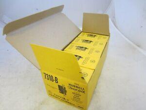 (10) HUBBELL 7310B TWIST-LOCK POLARIZED FLUSH OUTLETS 20A 125/250V