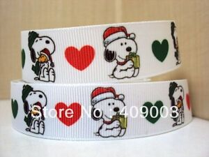Snoopy Christmas Ribbon 7/8' Wide NEW.... UK SELLER..... FREE P&P