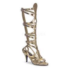 Sexy Egyptian Cleopatra Goddess Halloween Costume Gold Strappy Sandals Shoes