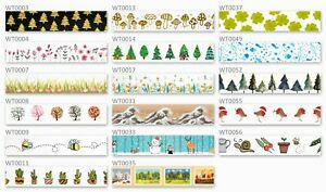Nature Theme Washi Tape - Free Same Day Post - UK Stock - High Quality - 10m