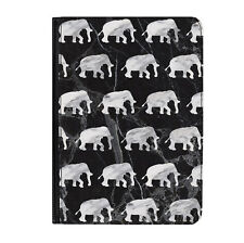"Grey Marble Elephants Animals Universal Tablet 7"" Leather Flip Case Cover"