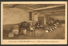 51 EPERNAY CHAMPAGNE COSTE-FOLCHER CELLIER HABILLAGE CARTE POSTALE PUBLICITAIRE